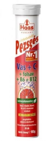 HAAS Pezsgőtabletta Vas + C-vitamin  20 db