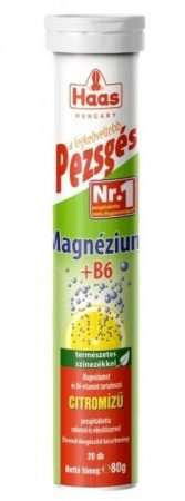 HAAS Pezsgőtabletta Magnézium 20 db - Étrend-kiegészítő, vitamin, Kalcium, magnézium