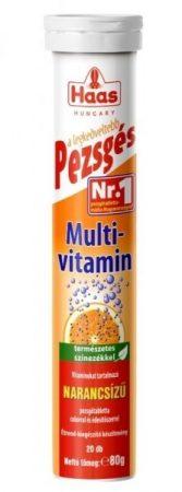 HAAS Pezsgőtabletta Multivitamin 20 db - Étrend-kiegészítő, vitamin, Multivitamin