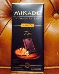 Mikado Exclusive Étcsokoládé narancshéjjal 72% kakaótartalommal 100 g