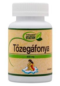 Vitamin Station Tőzegáfonya tabletta 600mg 90 db - Étrend-kiegészítő, vitamin, Húgyutak