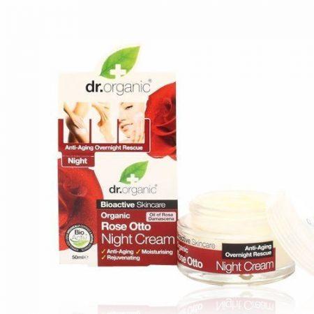 Dr. Organic Bio Rózsa éjszakai krém 50 ml - Kozmetikum, bőrápolás, intim termék, Arcápolás, Arckrém