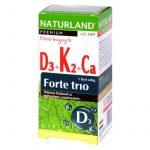 Naturland D3+K2+CA Forte trio tabletta 30 db - Étrend-kiegészítő, vitamin, D, A, E, K-vitamin