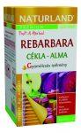 Naturland Rebarbara cékla- alma teakeverék 20x2 g - Gyógynövény, tea, Teakaverék