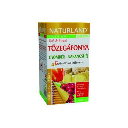 Naturland Tőzegáfonya teakeverék gyömbérrel és narancshéjjal 20x2 g - Gyógynövény, tea, Teakaverék