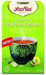 Yogi Bio Zöld Matcha tea citrommal 17x1,8 g  - Gyógynövény, tea, Filteres tea