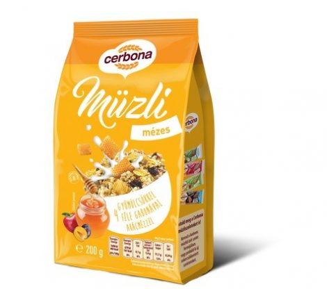 Cerbona Müzli mézes 200 g - Étel-ital, Müzli, gabonapehely, granola, reggeli alapanyag