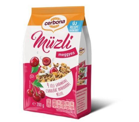 Cerbona Müzli meggyes 200 g - Étel-ital, Müzli, gabonapehely, granola, reggeli alapanyag