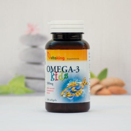 Vitaking Omega-3 Kids halolaj 500 mg kapszula gyerekeknek 100 db