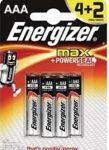 Energizer Max AAA ceruza elem 4+2 db