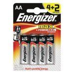 Energizer Max AA ceruza elem 4+2 db