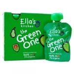 Ella's Kitchen The Green One bio zöld gyümölcsös püré multipack 5x90g