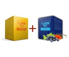 Flavon Kids + Flavon Max Csomag polifenolokat tartalmazó étrend-kiegészítő 2x240g