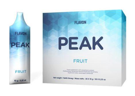 Flavon Peak Fruit polifenolokat és flavonoidokat tartalmazó étrend-kiegészítő 30x10g (300g)