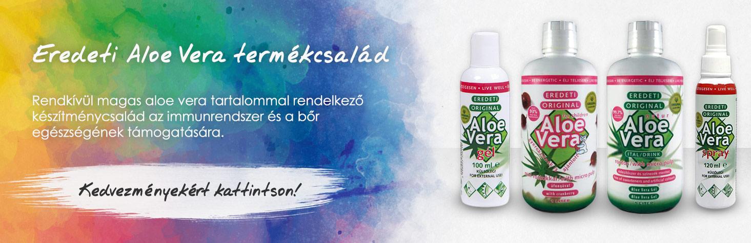 Eredeti Aloe Vera termékek kedvezménnyel